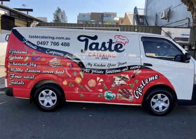 Taste Catering Van Wrap