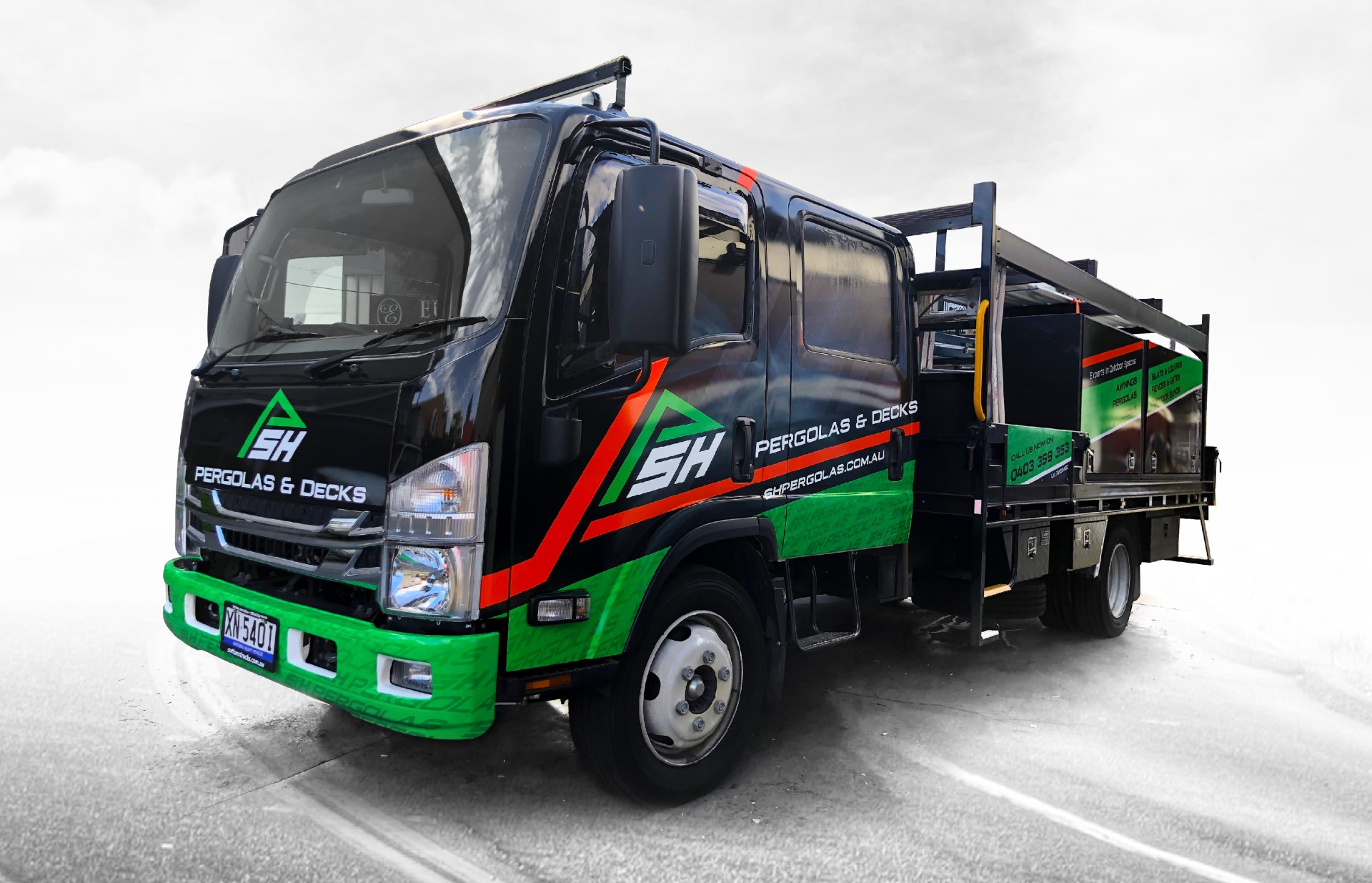 Truck wraps and signage