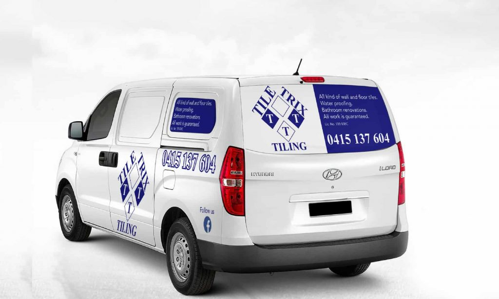 Large decal pack for a small to medium size van