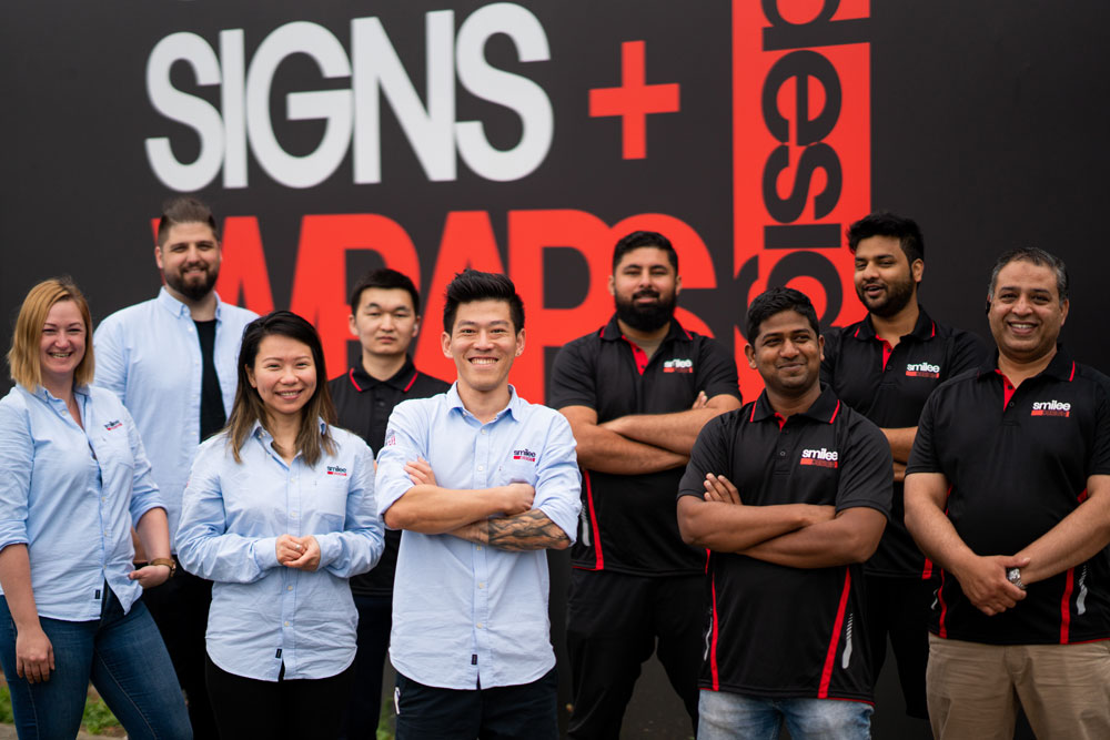 Smilee Signs and Wraps Team in Sydney