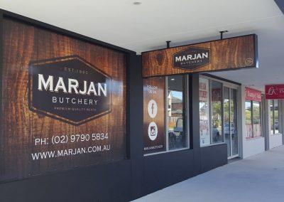 Shop Signs - Marjan Butchery